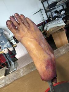 Frozen severed foot prop- top