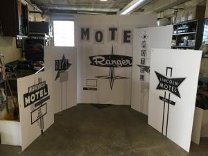 Miniature vintage motel sign models- scale outline prints