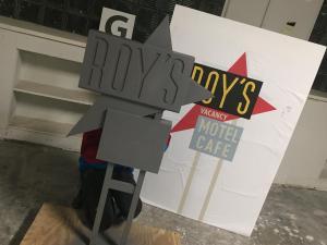 Miniature vintage motel sign models- Roy's primer