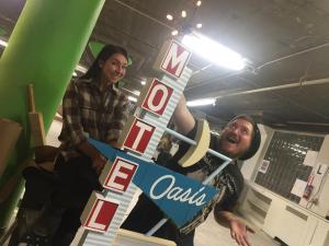 Miniature vintage motel sign models- let there be light!