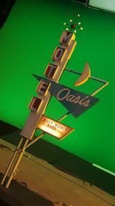 Miniature vintage motel sign models- shooting Oasis