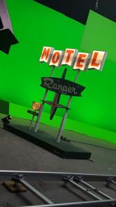 Miniature vintage motel sign models- shooting Maverick