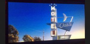 Screen grab- miniature vintage motel model- Oasis Motel