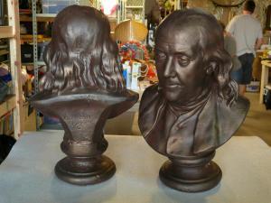 Foam Ben Franklin bust
