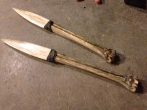 bone daggers wgn outsiders stunt props