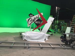 miniature motel sign capri mindhunter on set