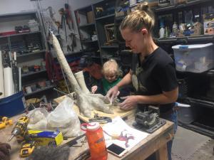 sculpting anzu dinosaur feet