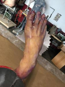 silicone frozen foot prop