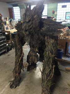 tree wolf monster suit in studio 1
