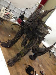tree wolf monster suit in studio 2